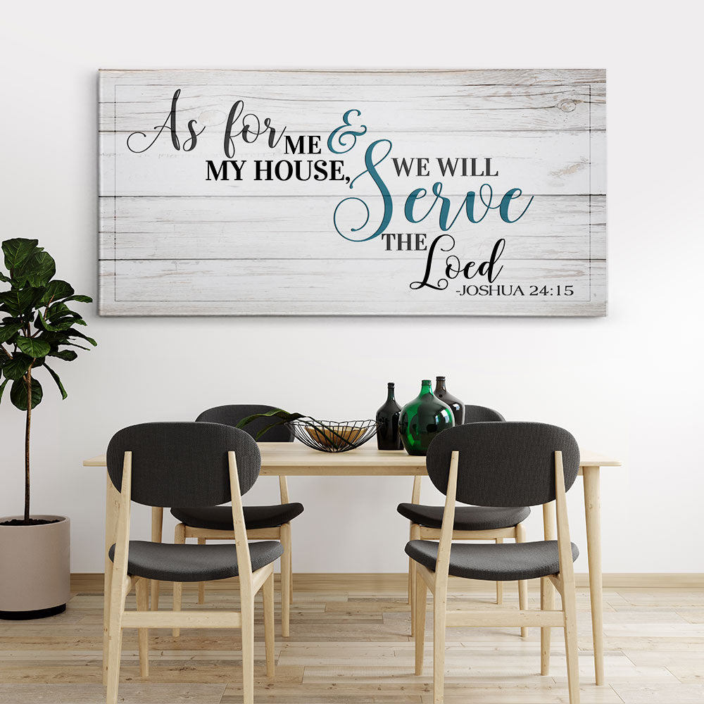 As For Me and My House We Will Serve The Lord Christian Wall Art