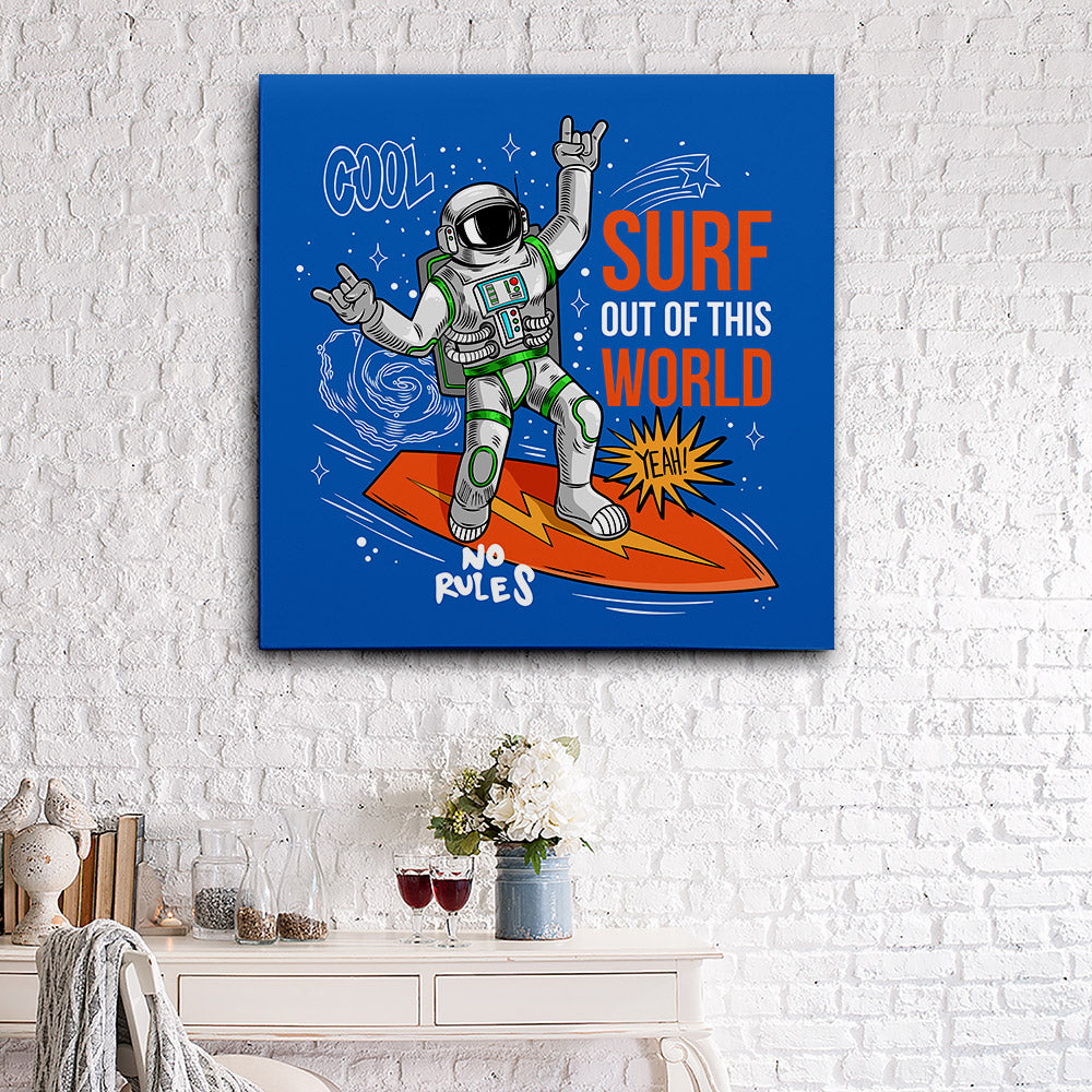 Astronaut Spaceman Canvas Wall Art
