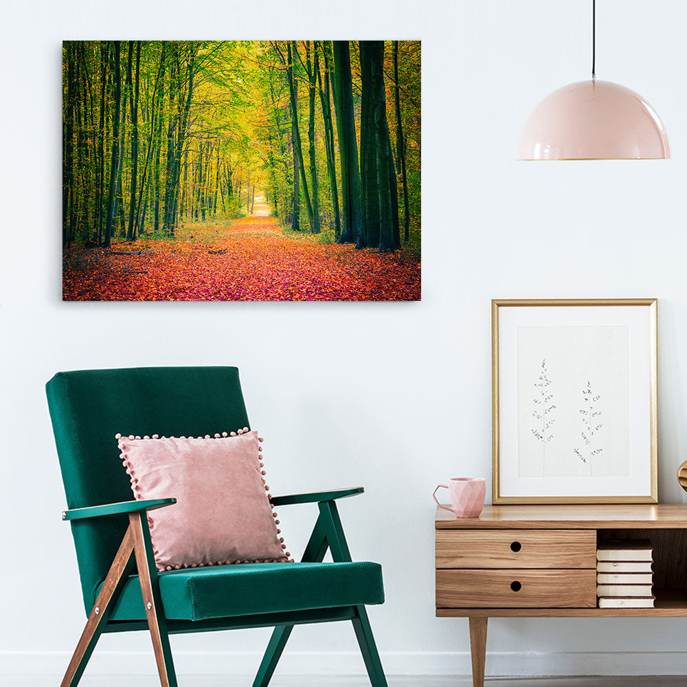Autumn Park v2 Nature Canvas Wall Art