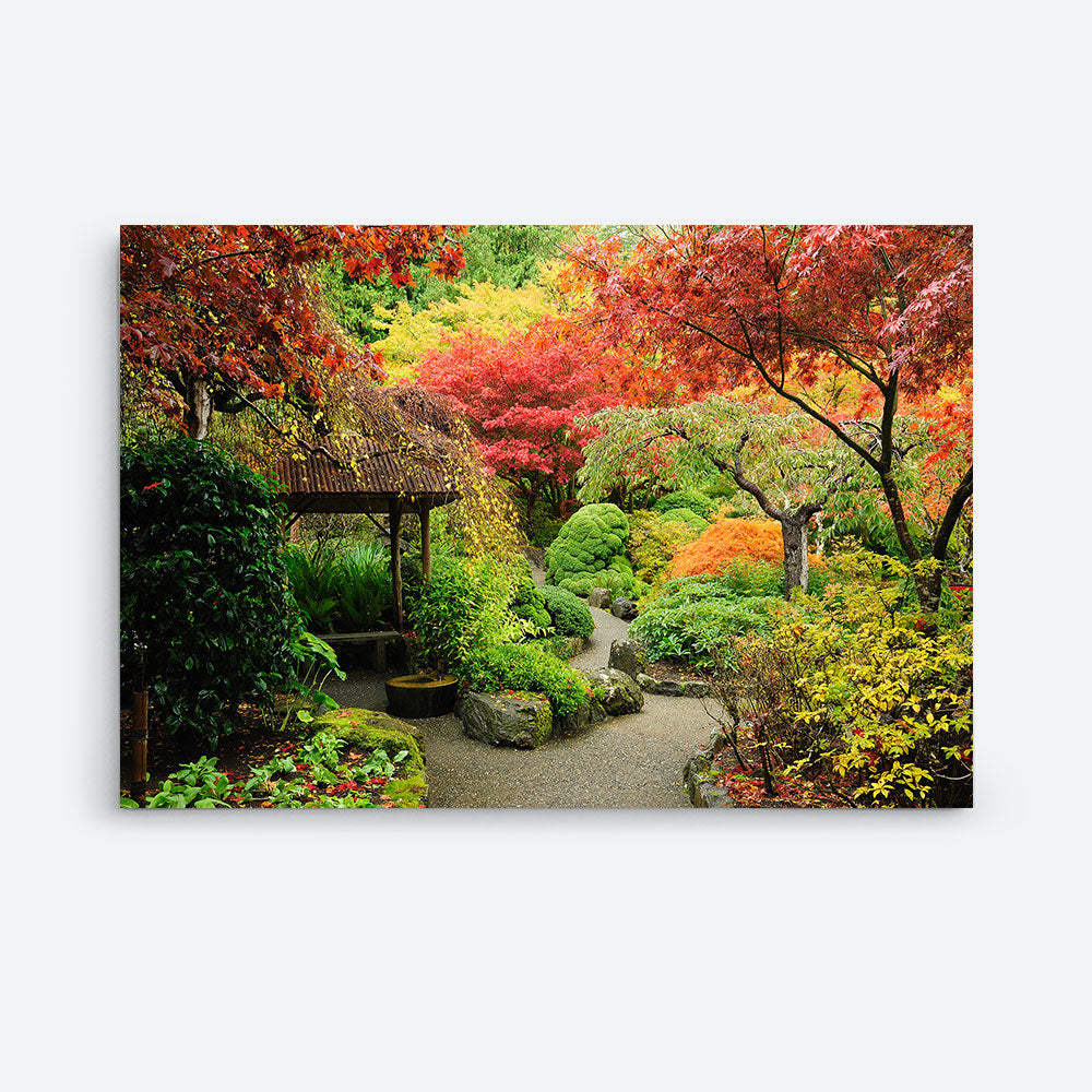 Autumnal Garden Nature Canvas Wall Art