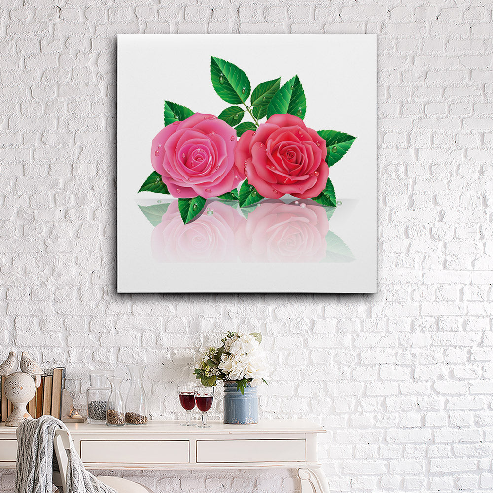 Beautiful Pink Roses Canvas Wall Art for your Home or Office. Motivational, inspirational and modern canvas wall art for your Home or Office.