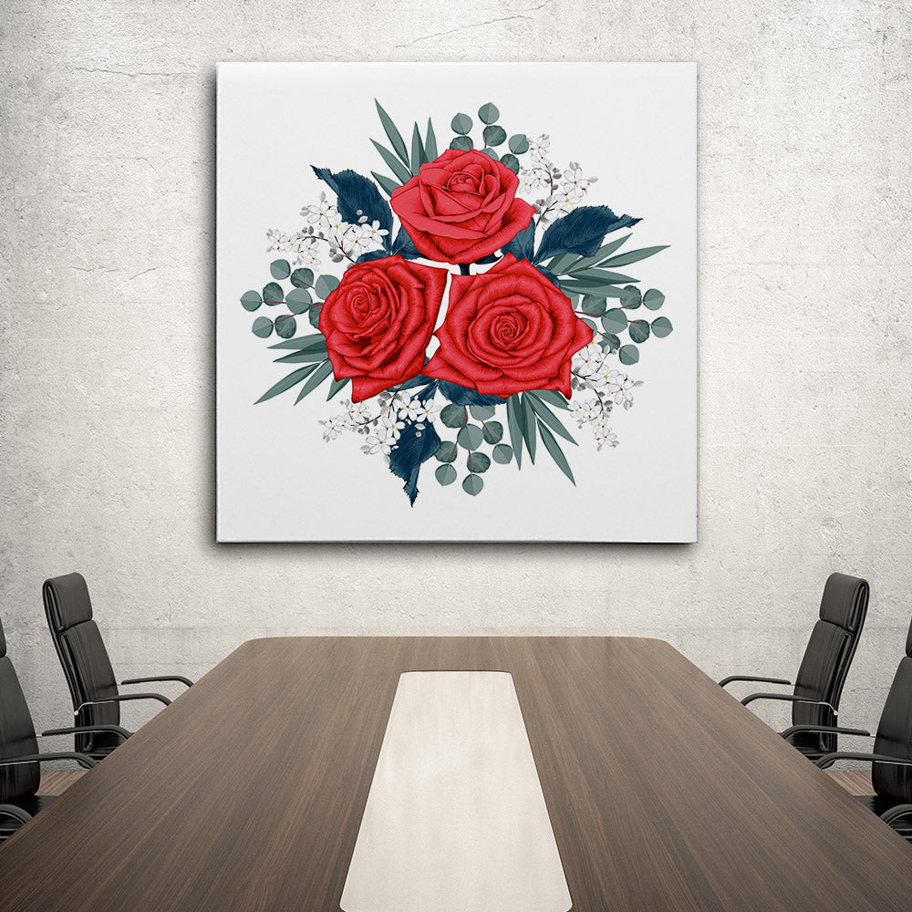 Beautiful Red Rose Canvas Wall Art for your Home or Office. Motivational, inspirational and modern canvas wall art for your Home or Office.
