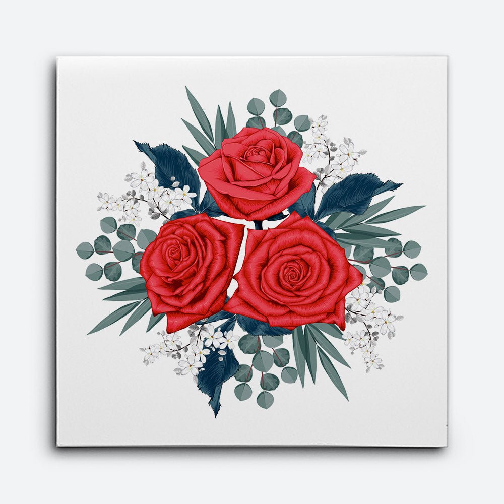 Beautiful Red Rose Canvas Wall Art