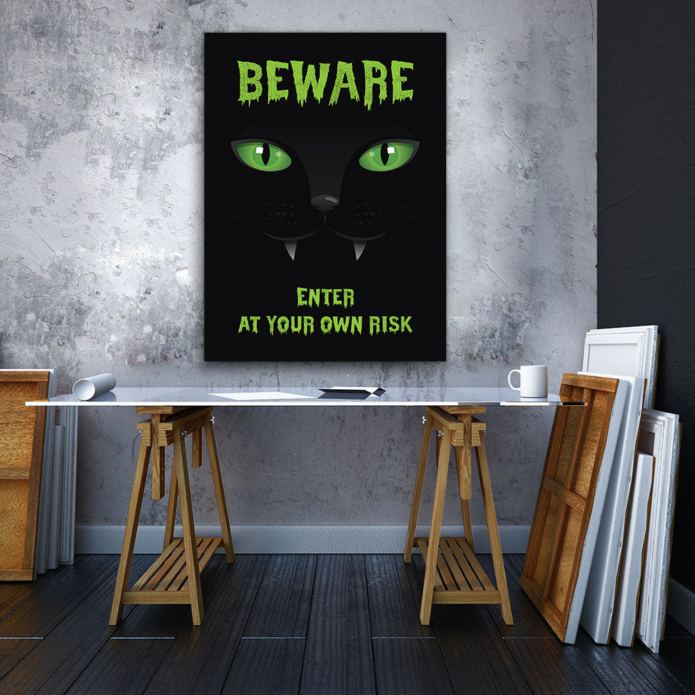 Beware Canvas Wall Art