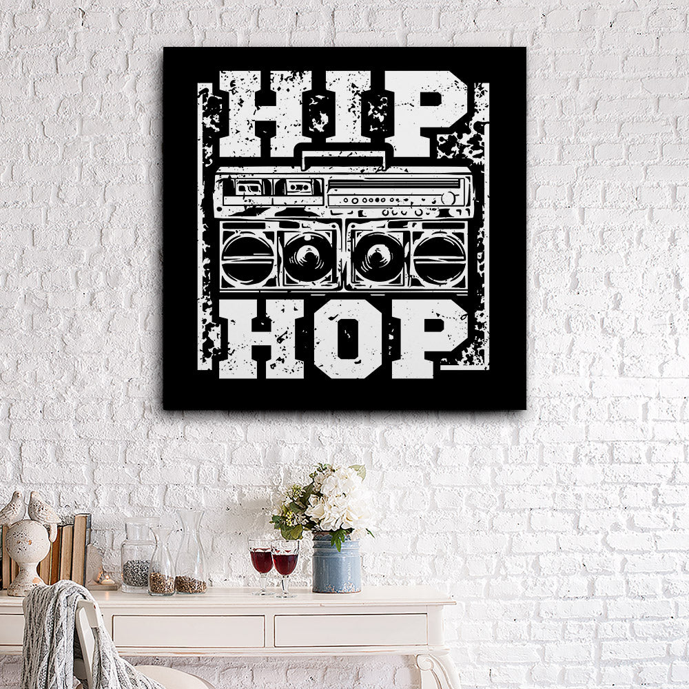 Big Boombox Hip Hop Rap Canvas Wall Art