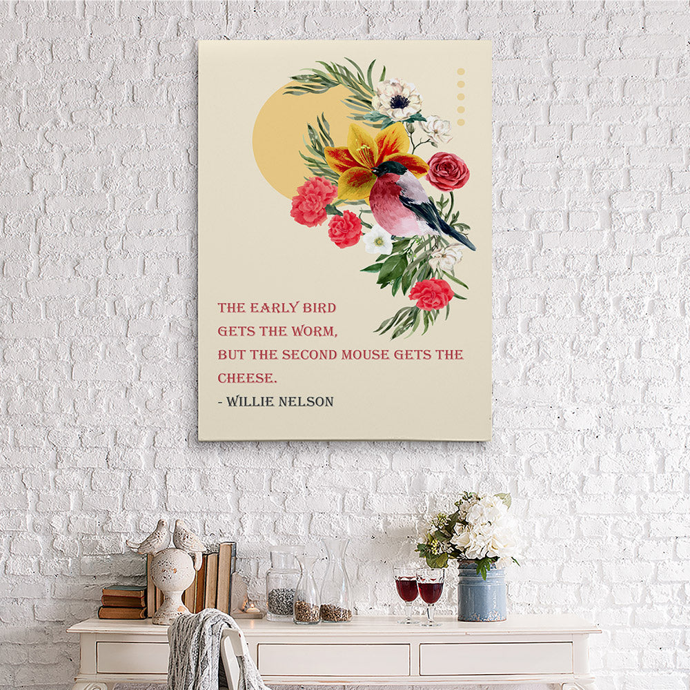 Bird Flower Canvas Wall Art for your Home or Office. Motivational, inspirational and modern canvas wall art for your Home or Office.
