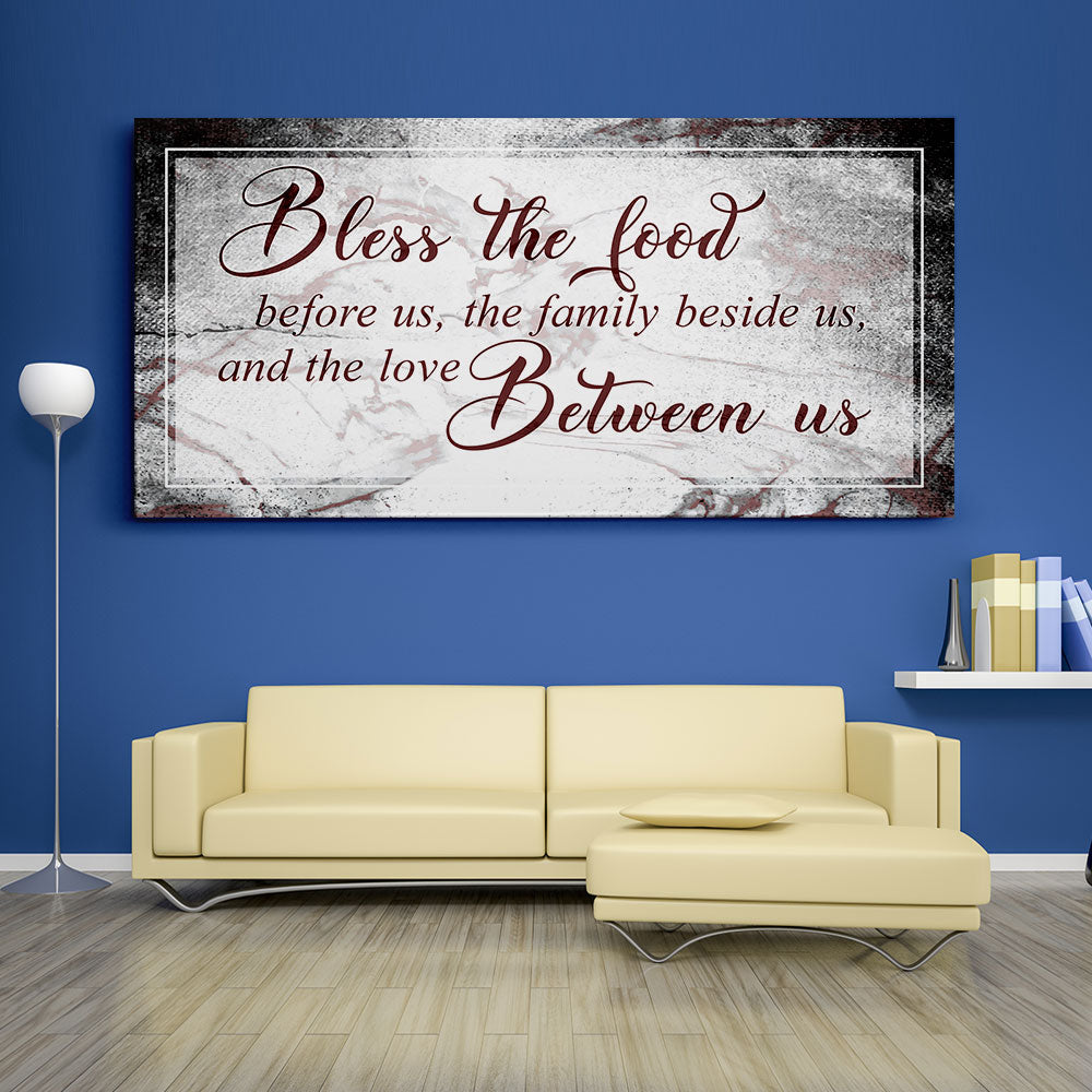 Bless the Food Before us Christian Wall Art v2