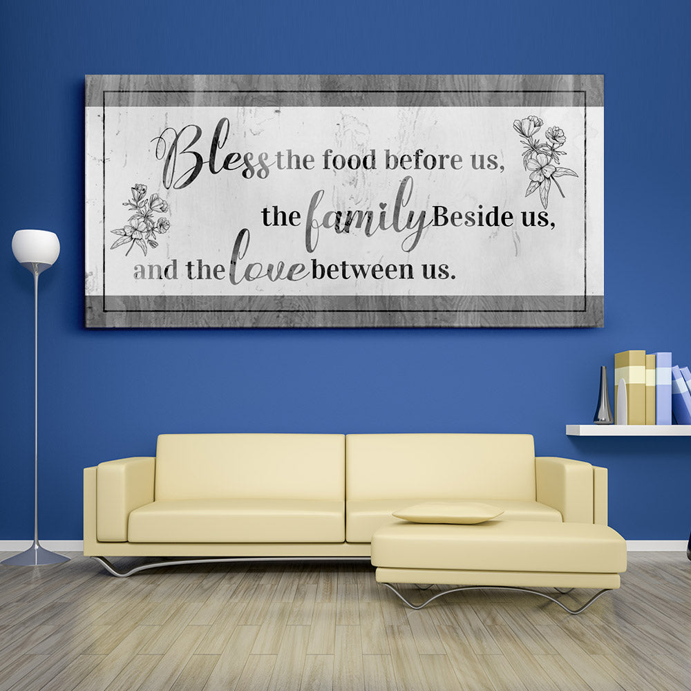 Decorate your walls with Bless the Food Before us Christian Wall Art, canvas prints from Makemyprints!