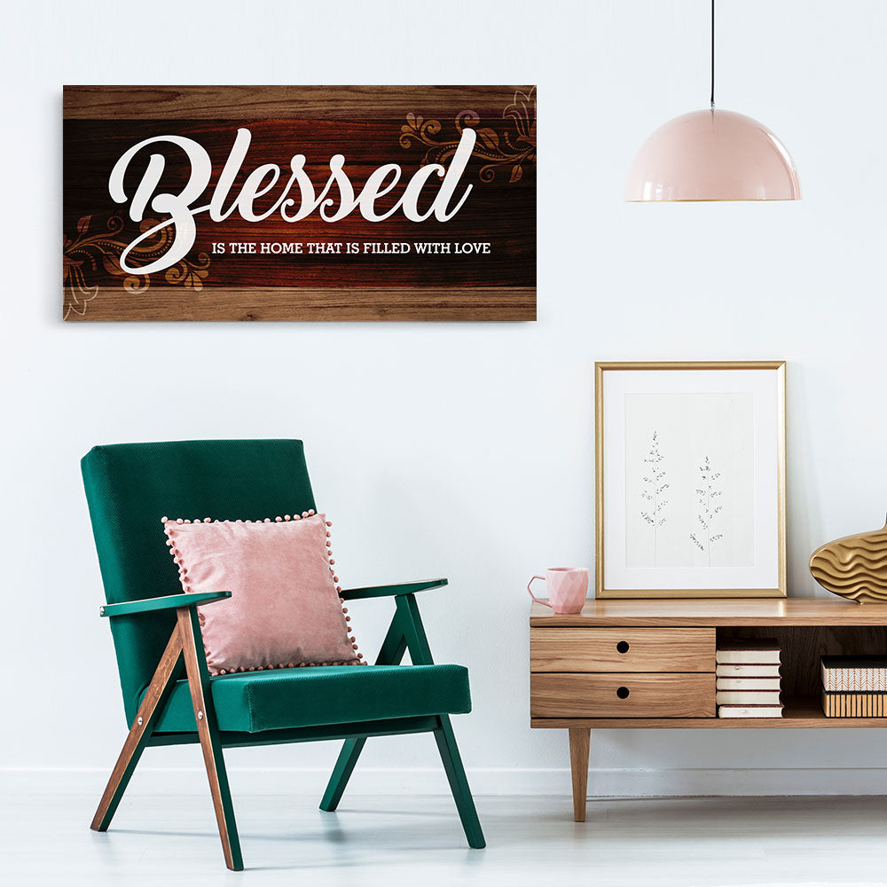 Blessed Is The Home That Is Filled With Love Canvas Wall Art