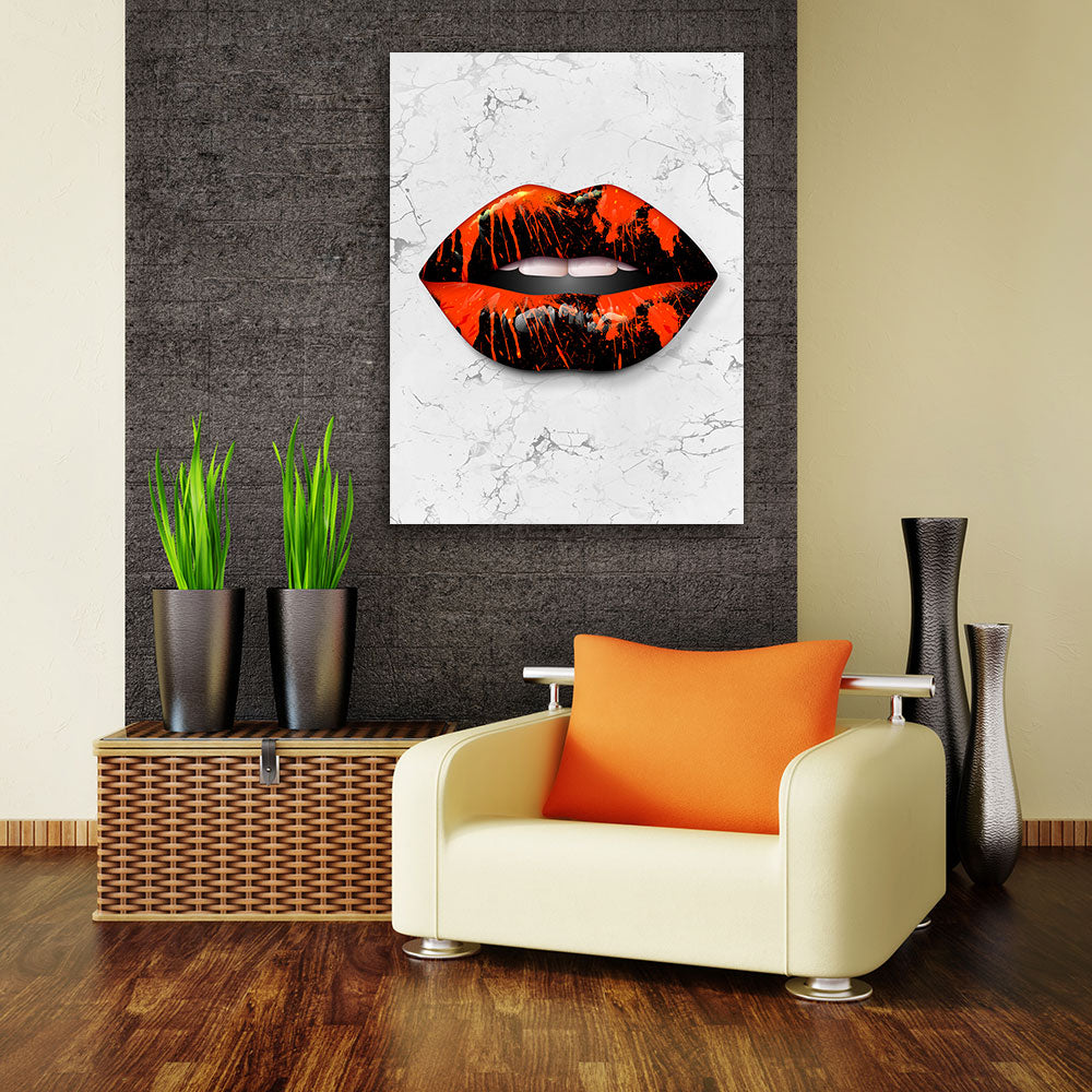 Decorate your walls with Bloody Lips wall art, canvas prints from Makemyprints!