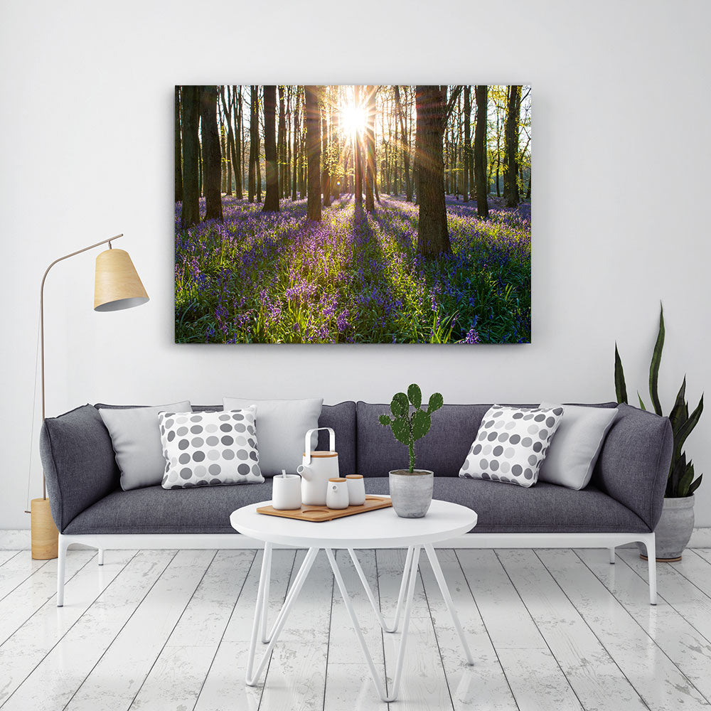 Bluebell Nature Canvas Wall Art