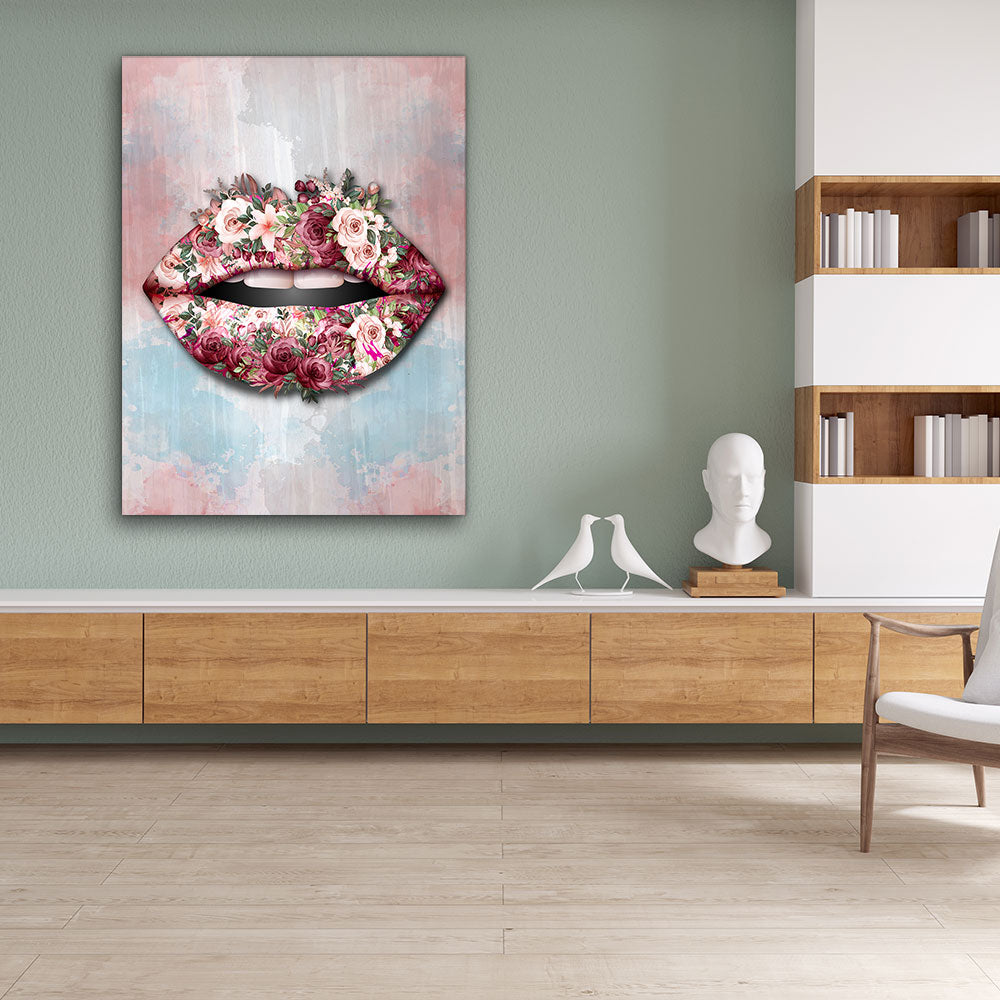 Decorate your walls with Bouquet Lips wall art, canvas prints from Makemyprints!