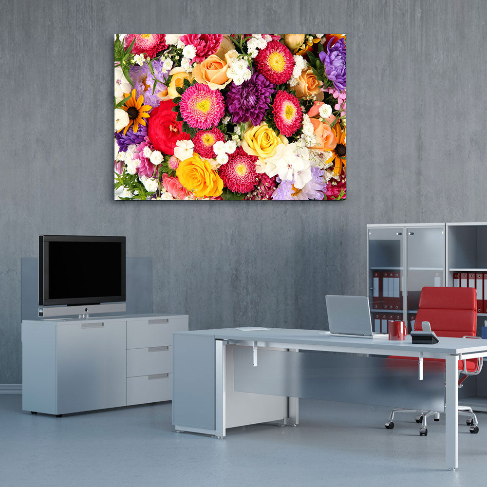 Bright Flowers Canvas Wall Art