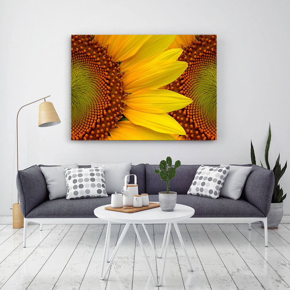 Bright Yellow Sunflowers Canvas Wall Art