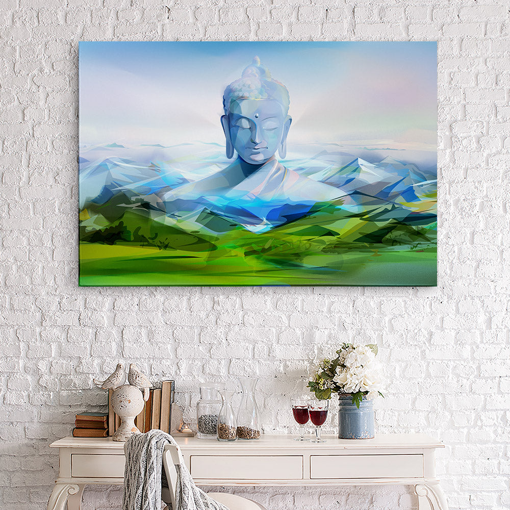 Buddha Mountains Canvas Wall Art