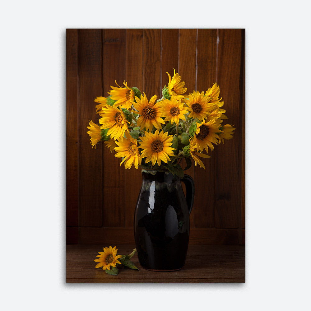 Bunch of Sunflowers Canvas Wall Art