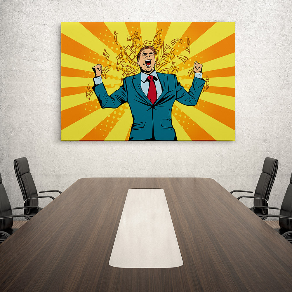 Businessman Canvas Wall Art