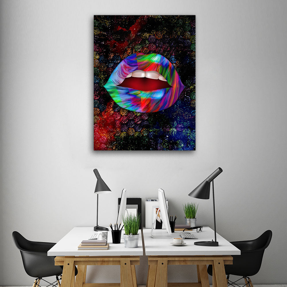 Decorate your walls with Candy Lips wall art, canvas prints from Makemyprints!
