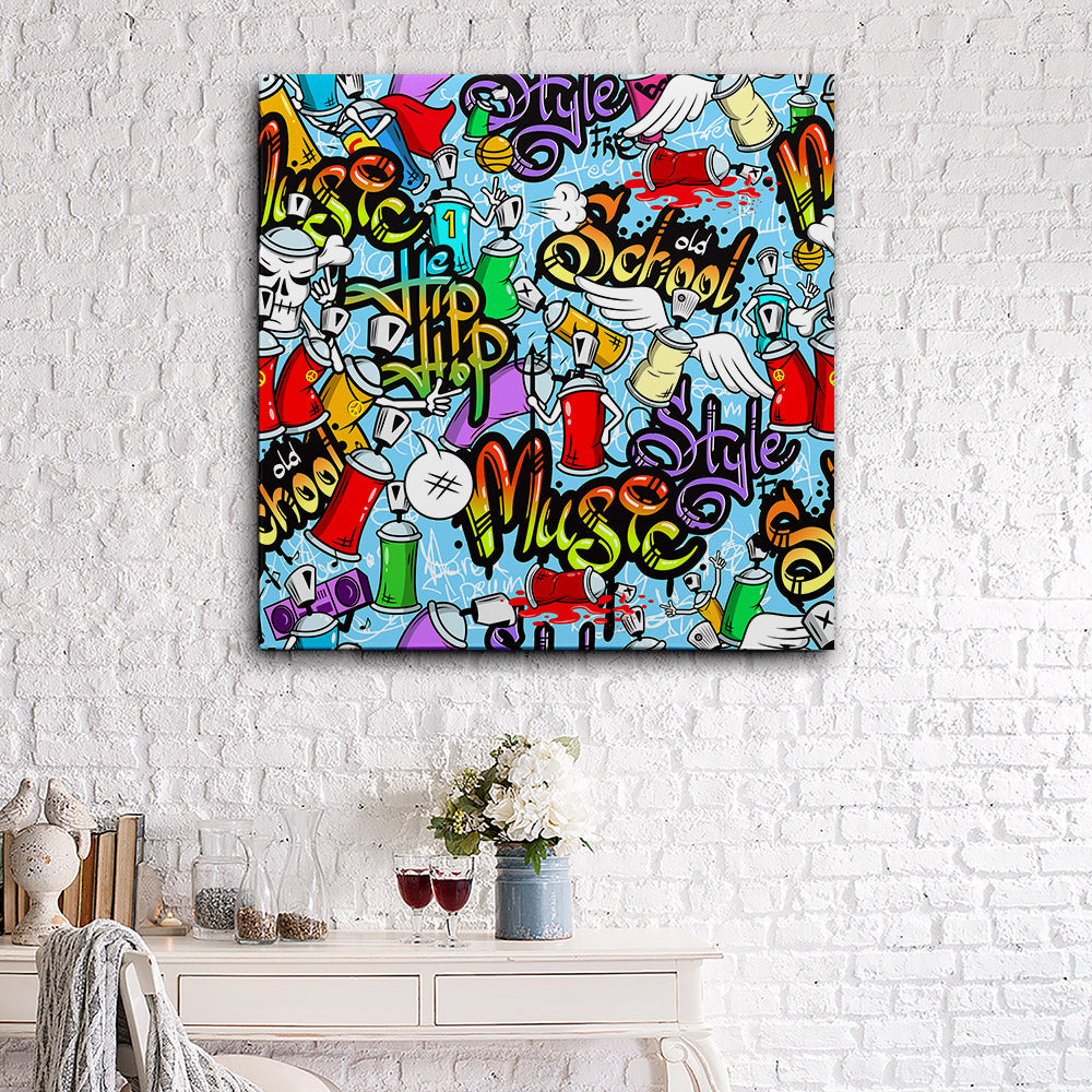 Characters Seamless Pattern Canvas Wall Art