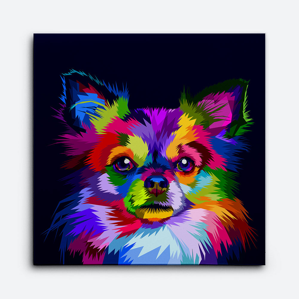 Chihuahua Dog Canvas Wall Art