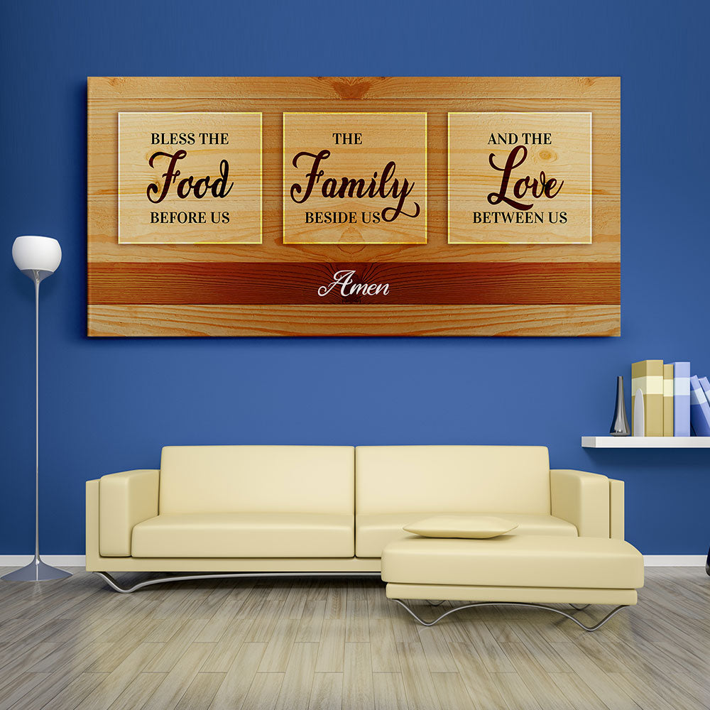 Decorate your walls with Bless The Food Christian Wall Art, canvas prints from Makemyprints!
