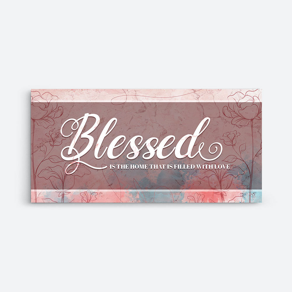 Decorate your walls with Blessed Is The Home Christian Wall Art, canvas prints from Makemyprints!