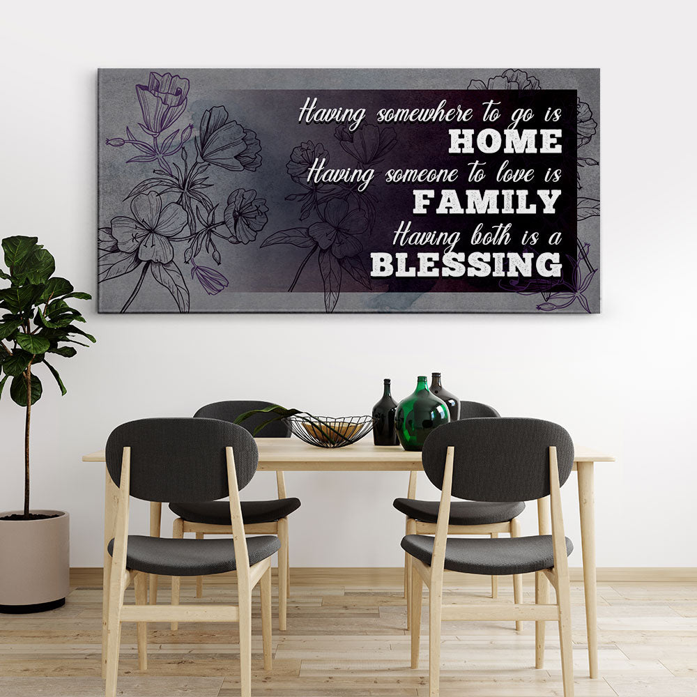 Decorate your walls with Home Blessing Family Christian Wall Art, canvas prints from Makemyprints!