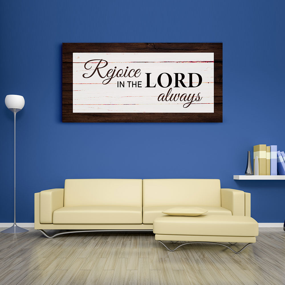 Christian Wall Art Rejoice In The Lord