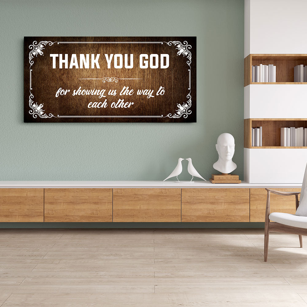Christian Wall Art Thank You God For Showing Us The Way