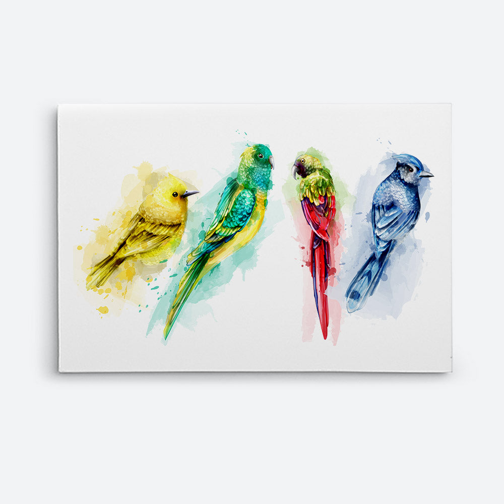 Colorful Birds Canvas Wall Art