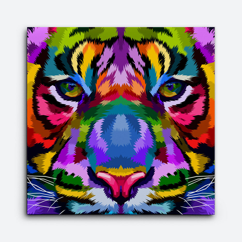 Colorful Tiger Canvas Wall Art