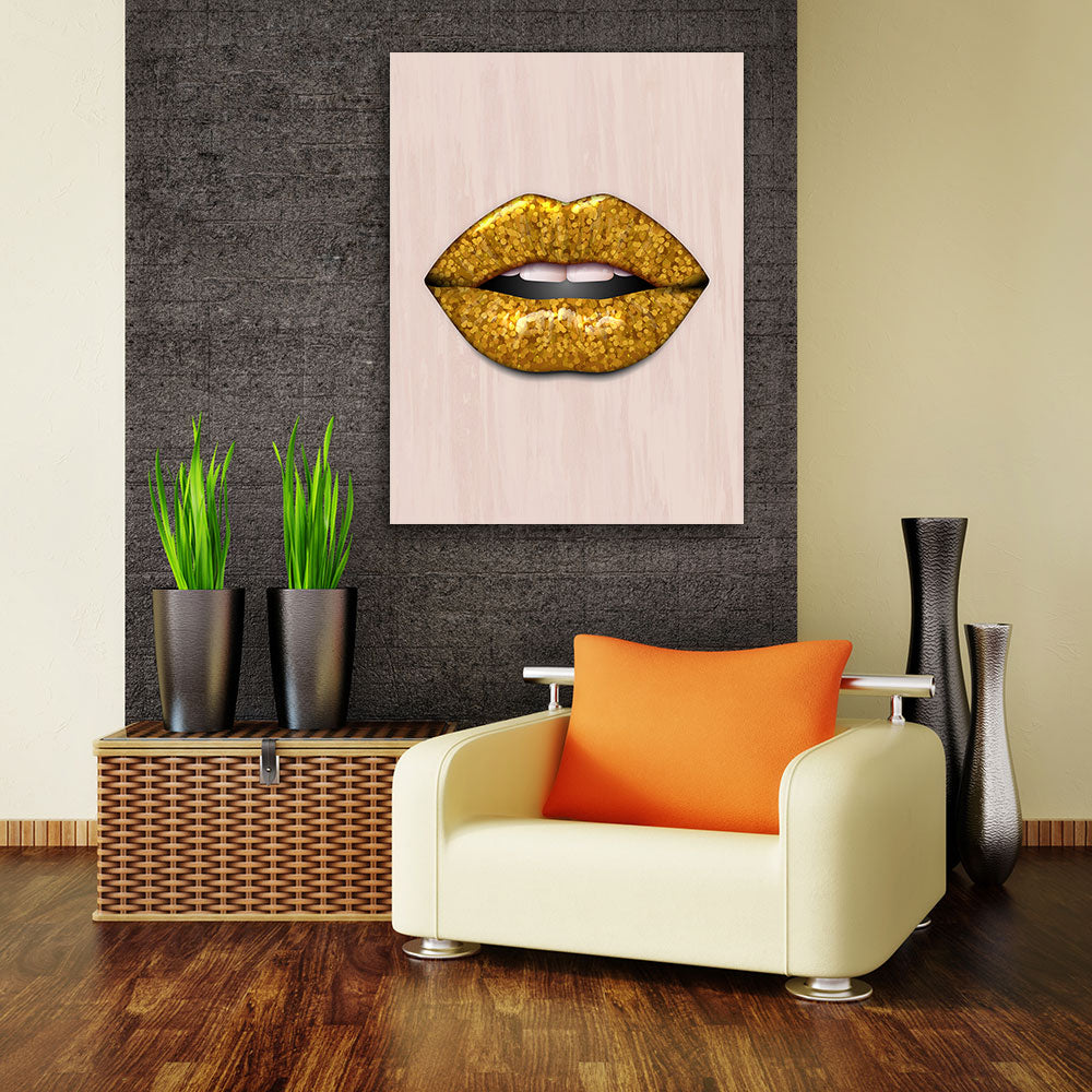Decorate your walls with Cubism Lips wall art, canvas prints from Makemyprints!