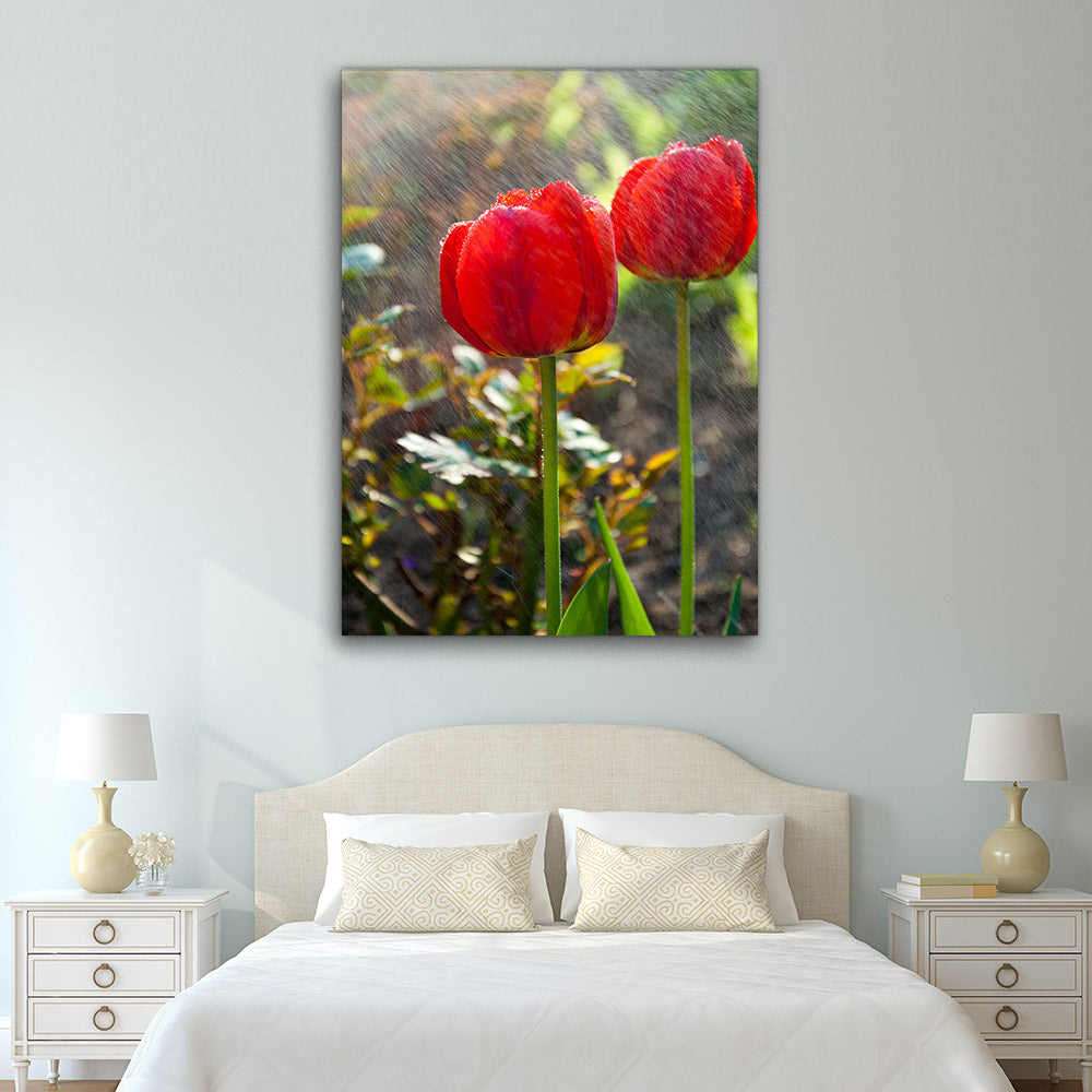 Cup Shaped Flower Canvas Wall Art