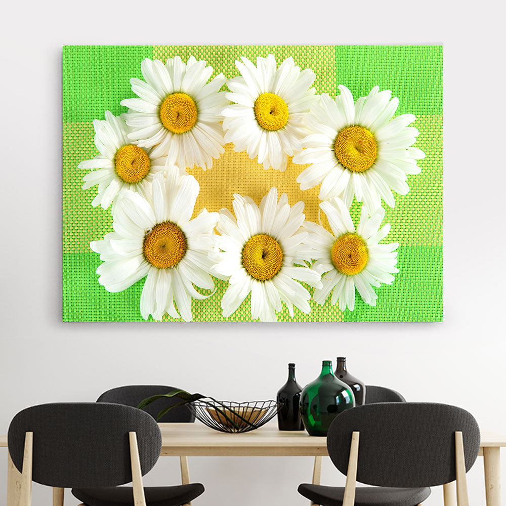 Daisies Flower Canvas Wall Art