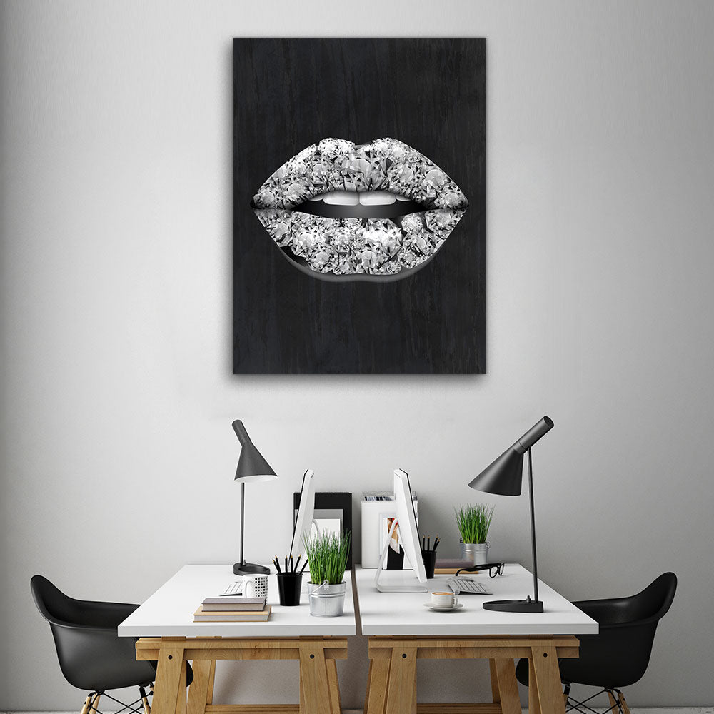 Decorate your walls with Diamond Lips wall art, canvas prints from Makemyprints!