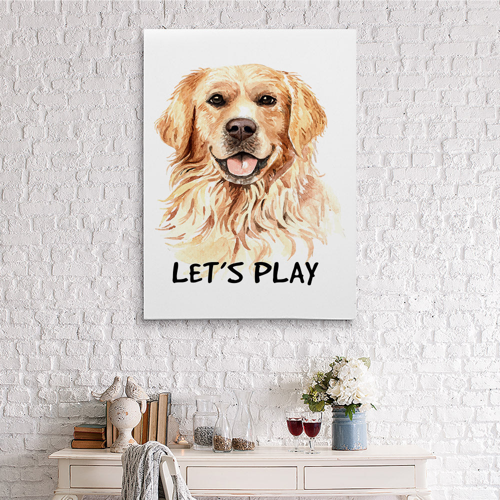 Dog Watercolor Printing Canvas Wall Art