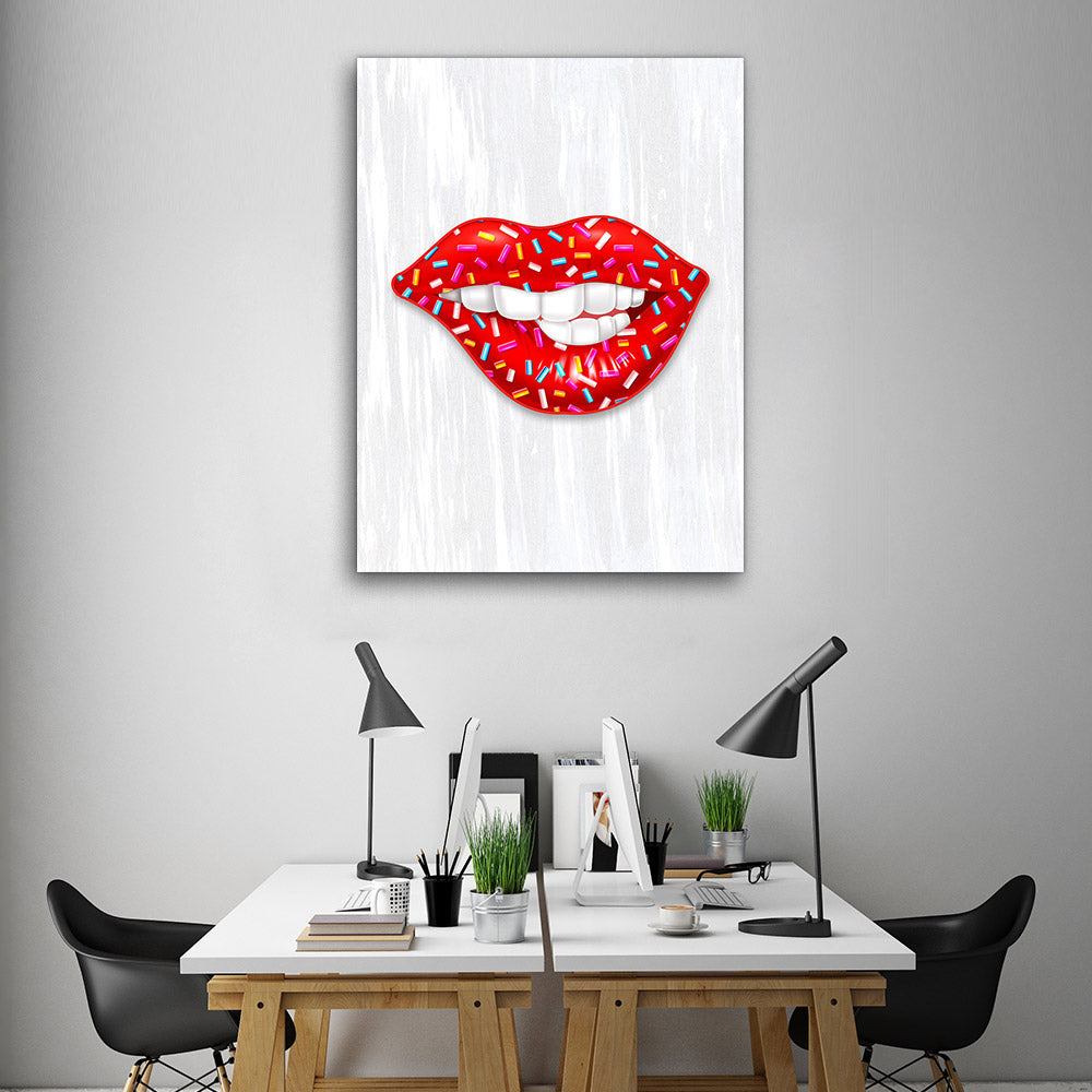 Decorate your walls with Donut Lips wall art, canvas prints from Makemyprints!