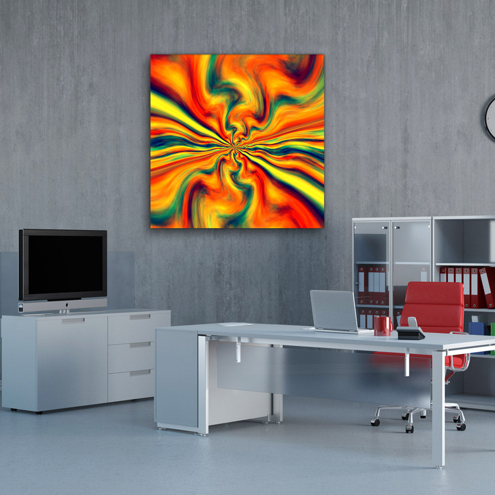 Energetic Bang Abstract Canvas Wall Art