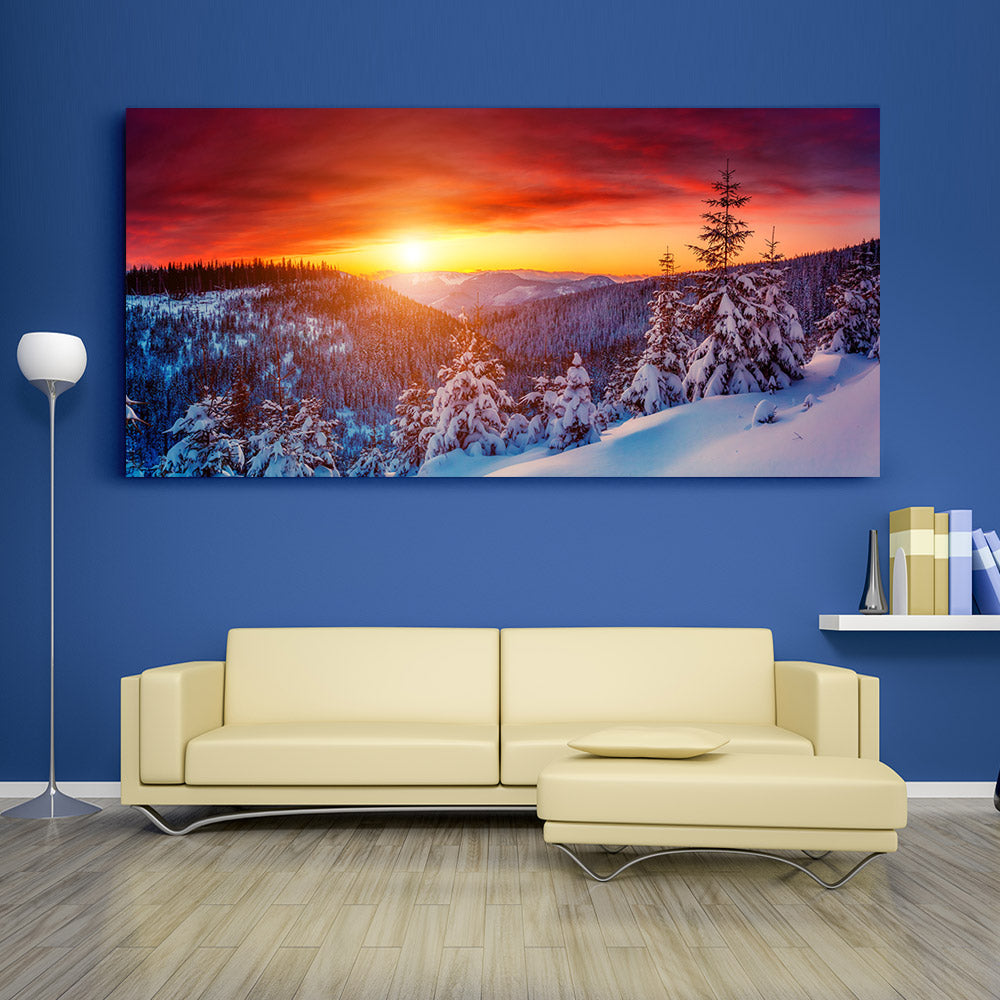 Evening Sunset Landscape Canvas Wall Art