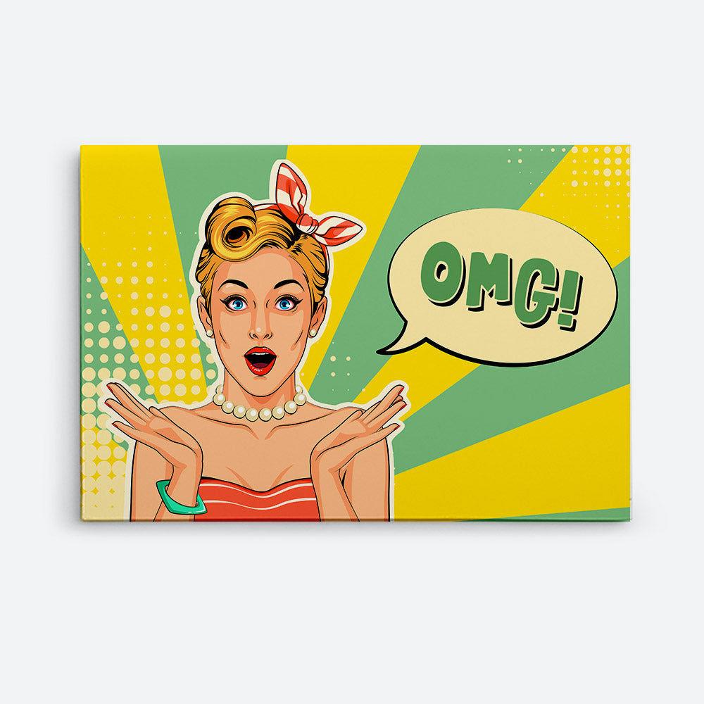 Excited Expressions Canvas Wall Art
