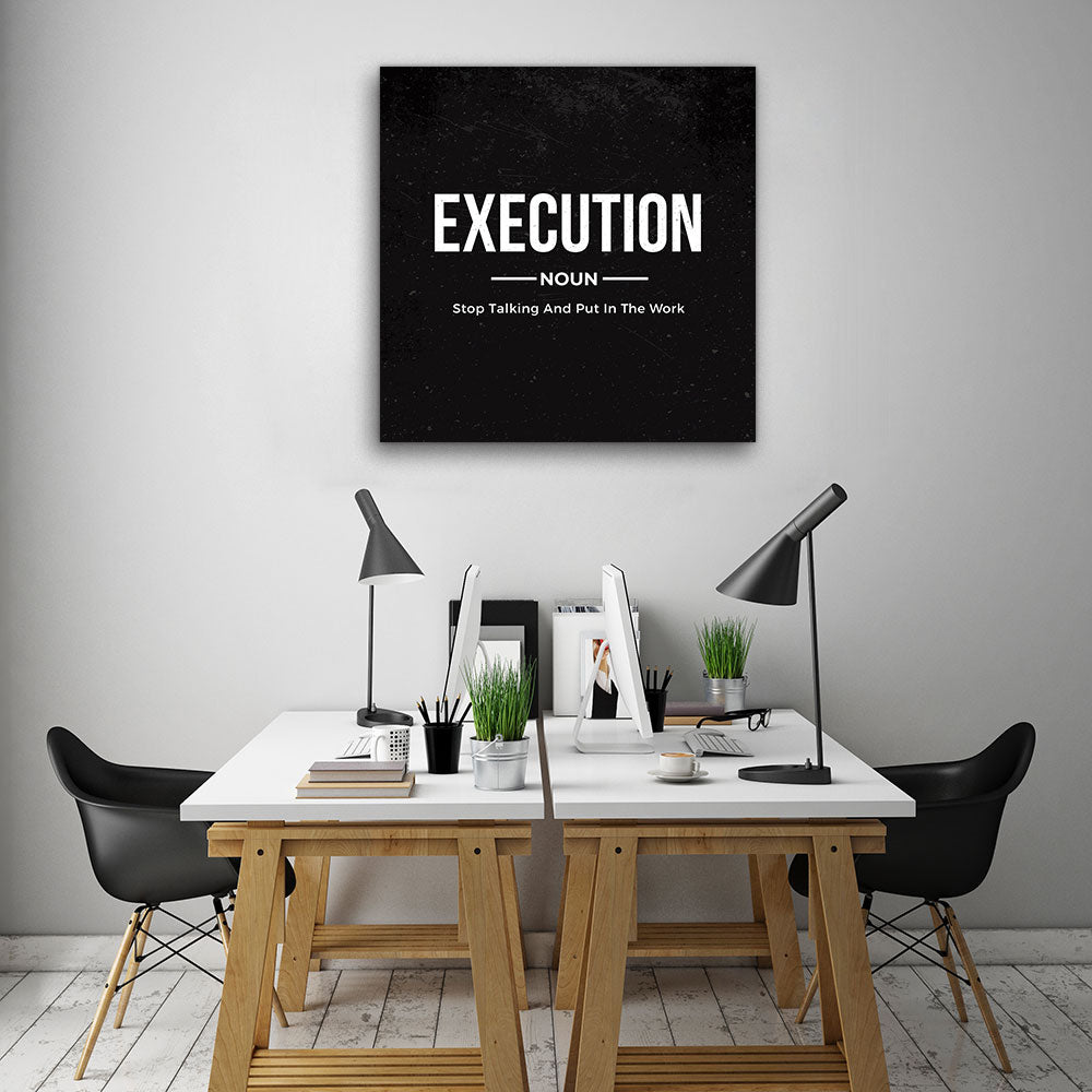 Execution Noun Canvas Wall Art