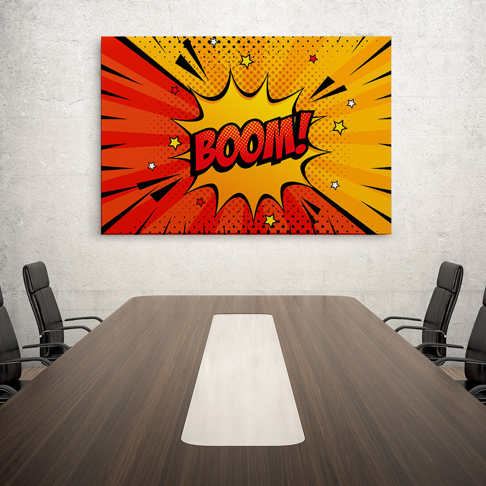 Explosion Boom Canvas Wall Art