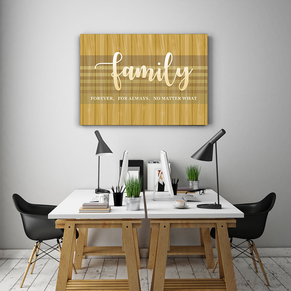 Family Forever, For Always, No Matter What Canvas Wall Art