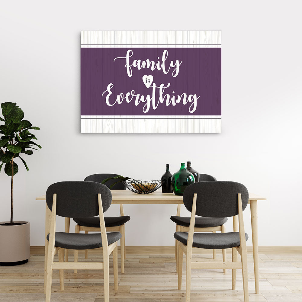 Family Is Everything Canvas Wall Art