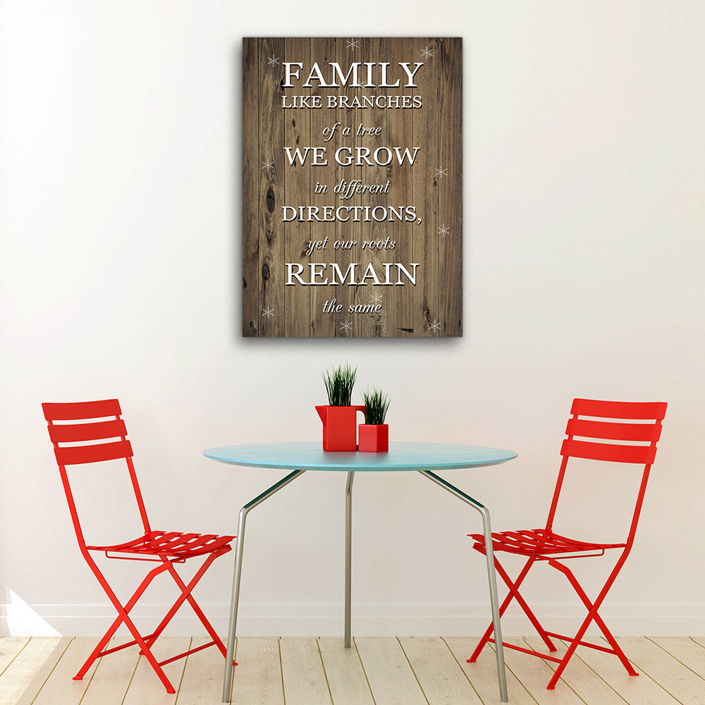 Family Like Branches of a Tree Canvas Wall Art