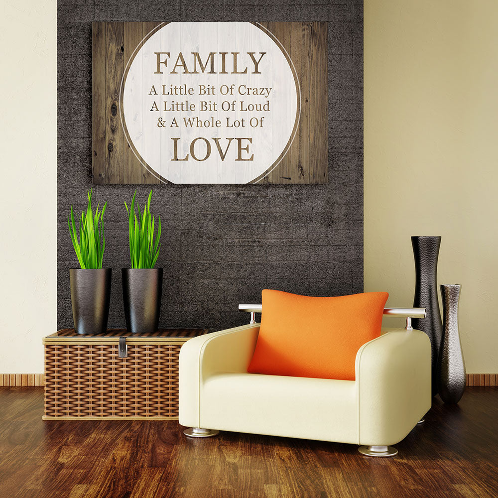 Family Love Saying Canvas Wall Art