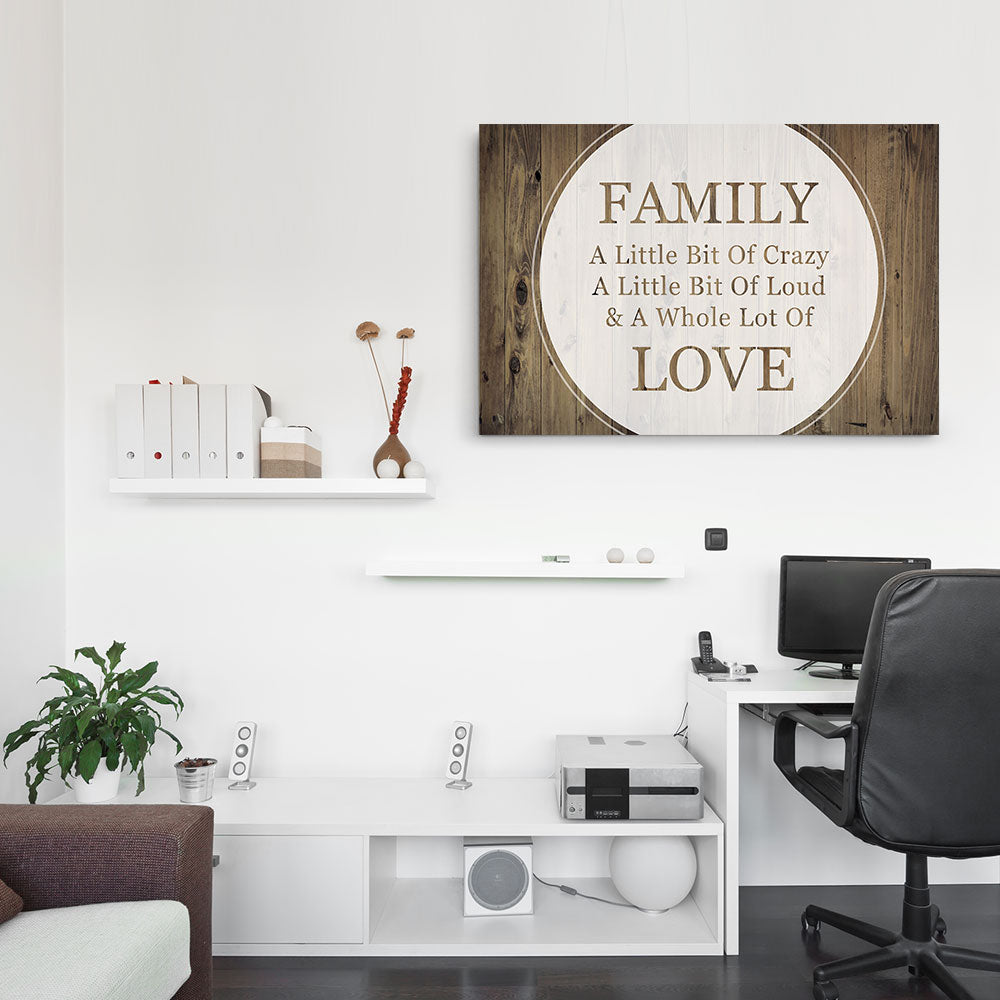 Family Love Saying Canvas Wall Art for your Home or Office. Motivational, inspirational and modern canvas wall art for your Home or Office.