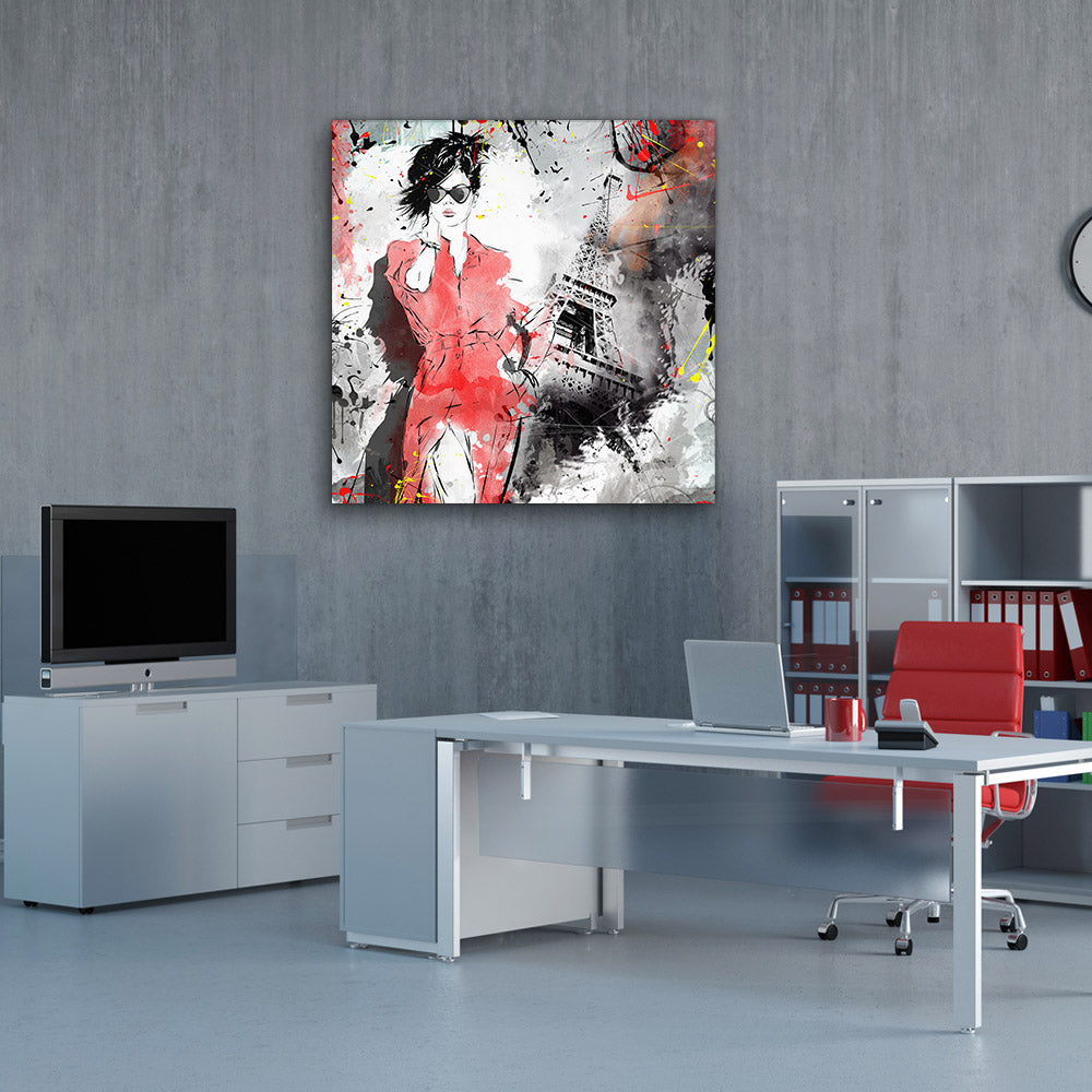 Fashion Girl Canvas Wall Art v4