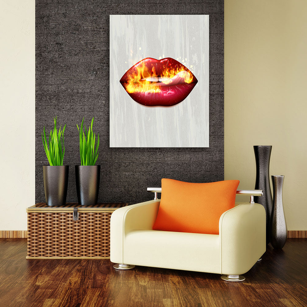 Decorate your walls with Fire Lips wall art, canvas prints from Makemyprints!