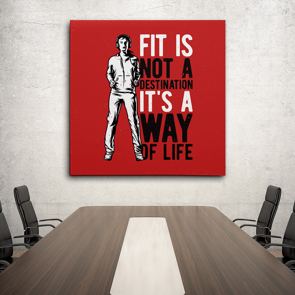 Fitness Girl Canvas Wall Art for your Home or Office. Motivational, inspirational and modern canvas wall art for your Home or Office.